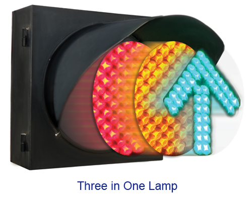 Three in one lamp-LED Traffic Signals
