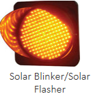 solar traffic light blinkers